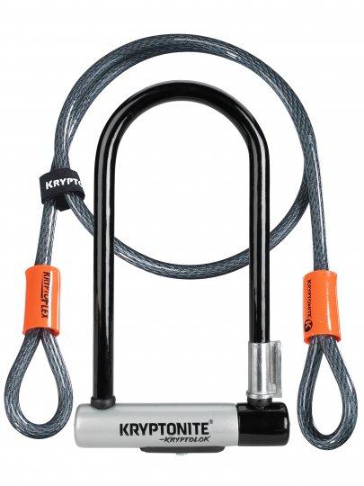 Zámek U Kryptolok Standart + lanko / U-lock + cable 2018