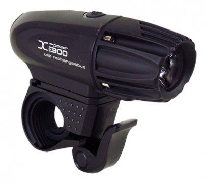 světlo přední MOON XP-330 1LED 330lm USB černé