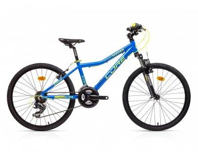 """Dětské kolo 24"""" Al Nipper, 3x6s, M-3020 - modrý lesk se žlutou 2021"""