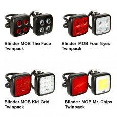 Sada světel Blinder MOB Twinpack - Set přední + zadní světlo 2019