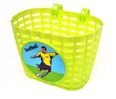 dětský koš na kolo plastový zelený FOTBAL