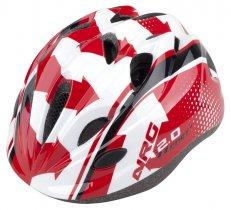 Přilba PRO-T Plus Toledo In mold dětská červeno-bíla NGR