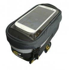 Art. 520 Brašna na rám s kapsou pro mobil - Brašny na rám - SNC - speciální a náročná cykloturistika - Cyklistické brašny